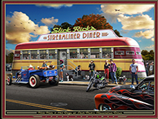diners, stores, hotels artwork by Larry Grossman